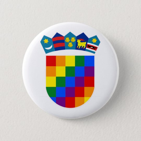 LGBT Kroatien Runder Button 5,7 Cm