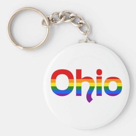 LGBT Ohio Regenbogentext Keychain Schlüsselanhänger
