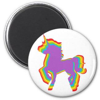 LGBT Regenbogen-Einhorn Runder Magnet 5,1 Cm