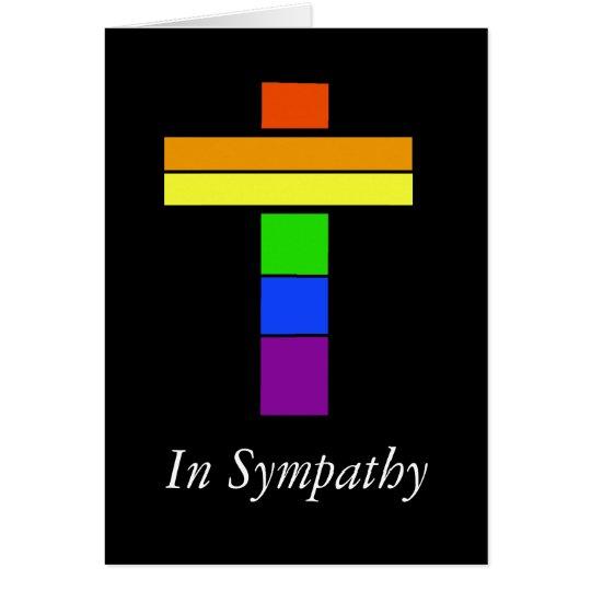LGBT Regenbogen-Flaggen-Kreuz-Beileids-Karte Karte