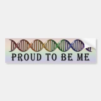 LGBT Stolz-Regenbogen DNS Autoaufkleber