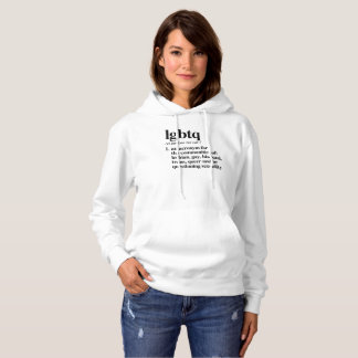 LGBTQ Definition - definierte LGBTQ Ausdrücke - Hoodie