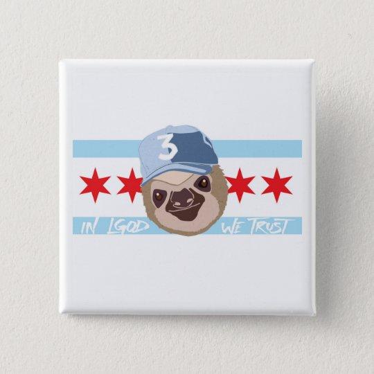 LGOD Chicago Trägheits-Knopf Quadratischer Button 5,1 Cm