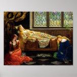 L'huile de beauté de sommeil sur la peinture de to posters