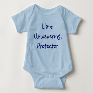 Liam-Baby-Namen-Bedeutungs-Bodysuit Baby Strampler