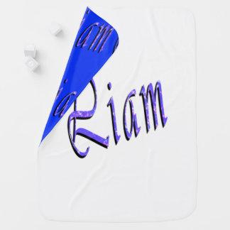 Liam, Name, Logo, gemütlich umschaltbare Babydecke