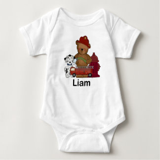 Liam wenige Feuer-Bärn-personalisierte Geschenke Baby Strampler