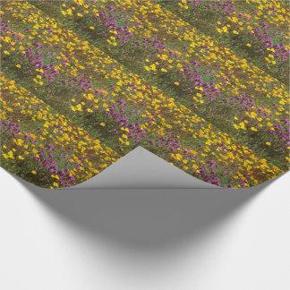 Liatris-Kalifornien-Mohnblumen-Wildblume-Blumen Geschenkpapier