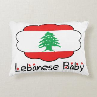 Libanesisches Flaggen-Kissen für Baby Deko Kissen