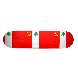 Libanesisches kommunistisches Party, politische Fl Personalisiertes Skateboard