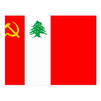 Libanesisches kommunistisches Party, politische Postkarte
