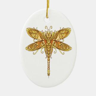 Libelle 3 ovales keramik ornament