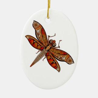Libelle 4c ovales keramik ornament