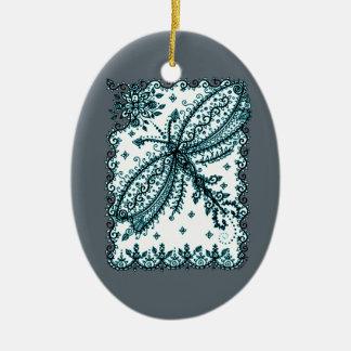 Libelle 5 ovales keramik ornament