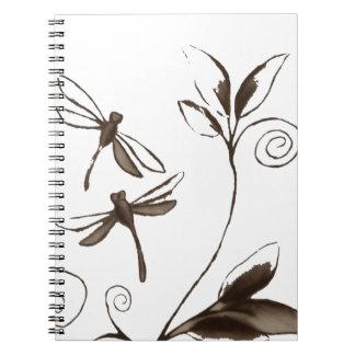 Libelle abstrakt notizbücher