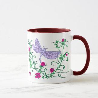 Libelle mit Reben Tasse