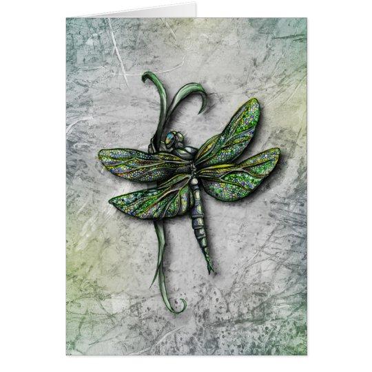 Libelle Notecard oder Gruß-Karte Mitteilungskarte