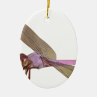 Libelle Ovales Keramik Ornament