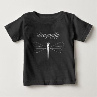 Libelle - schwarzer Baby-Geldstrafe-Jersey-T - Baby T-shirt
