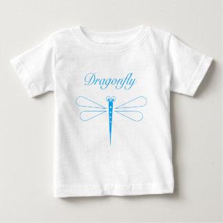 Libelle - weißer Baby-Geldstrafe-Jersey-T - Shirt