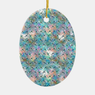 Libellen-Galaxie Ovales Keramik Ornament