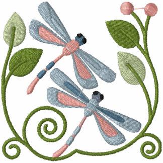 Libellen-Garten Besticktes Kapuzenpulli