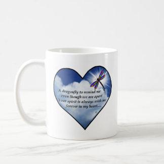 Libellen-Herz-Gedicht Kaffeetasse