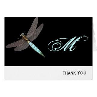 Libellen-Monogramm-Geschäft Mitteilungskarte