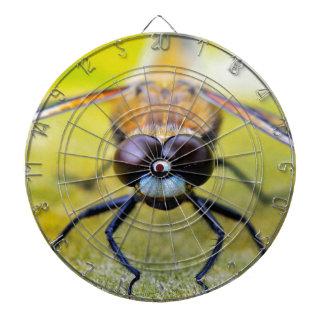 Libellen-Nahaufnahme Dartscheibe