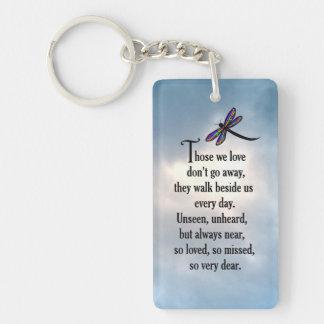 "Libellen-""so geliebtes"" Gedicht Schlüsselanhänger"