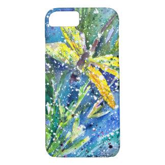 Libellen-Sommer-Aquarell-Telefonkasten
