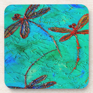 Libellen-Tanz Getränkeuntersetzer