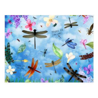Libellenkunst-Nola kelsey Postkarte