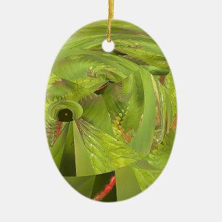 Libellenwelt des Wunders Ovales Keramik Ornament