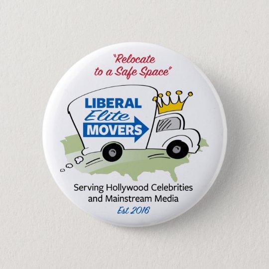 Liberale Auslese-Urheber Runder Button 5,1 Cm