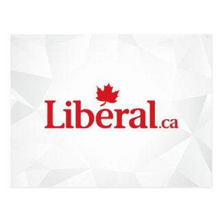 Liberales Logo des Party-Liberal.ca Postkarten