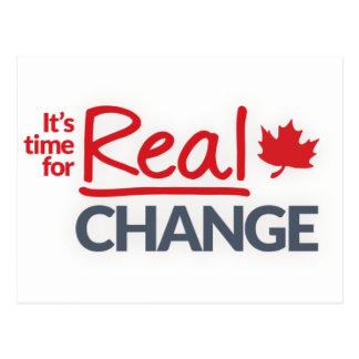 Liberales Party Kanadas - es ist Zeit für Postkarten