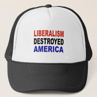 LIBERALISMUS ZERSTÖRTES AMERIKA TRUCKERKAPPE