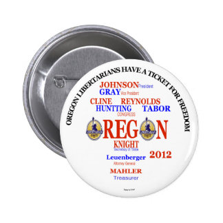 Liberalist-Karte Garys Johnson Oregon Runder Button 5,7 Cm