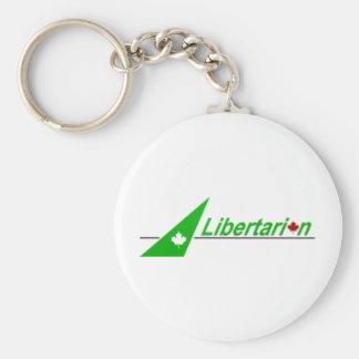 Libertarian_Party_of_Canada_Logo Standard Runder Schlüsselanhänger