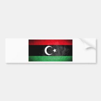 Libysche Flagge Autoaufkleber