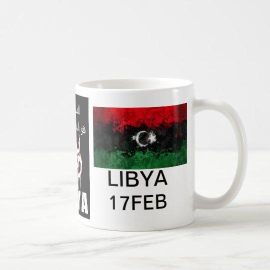 Libysches Blut ist die rote Linie Kaffeetasse