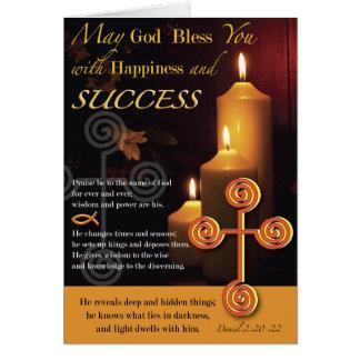 Licht des Lords Success Grußkarte