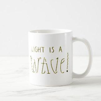 Licht ist ein Wellen-Partikel Ambigram Kaffeetasse
