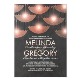 Licht-und Regenschirm-Tafel-Verlobungs-Party 12,7 X 17,8 Cm Einladungskarte