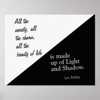 Licht und Schatten - Lew Tolstoi - Kunst-Druck Poster