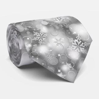 Lichter und Schneeflocken, Silber - Individuelle Krawatten