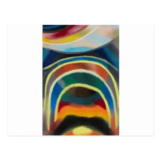 Lichtkreise (Kosmischer Regenbogen) durch Otto Postkarte