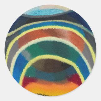 Lichtkreise (Kosmischer Regenbogen) durch Otto Runder Aufkleber