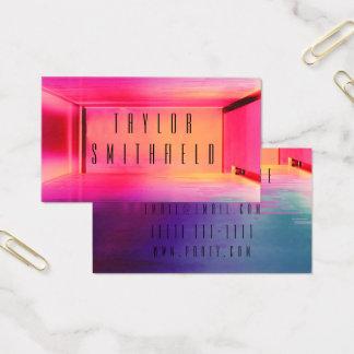 Lichtspaß-Geschäftskarte des Neonlicht-Party Visitenkarte